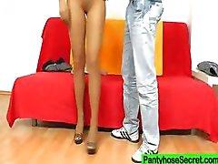 Gabrielle fetisch nylon slang shag