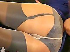Fairhair i otrolig nylon strumpbyxor
