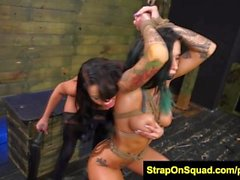 FetishNetwork Alby Rydes at fuck machine with Esmi Lee