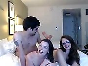 Threesome cam sex