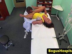 Seksi eurobabe Tıbbi röntgenci olarak fun