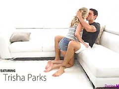 Trisha Parks seduces her man with her juicy ass and takes