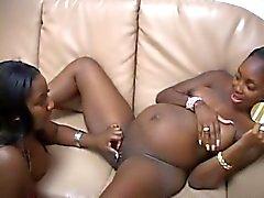 Gravides filles noir avec le blanc Garçons huit !