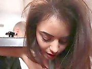 Teen härligt tjej Kylie Quinn får sönder av en stor kuk