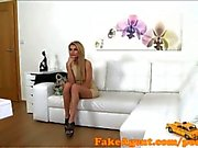FakeAgent Super Skinny model sucks and fucks in office