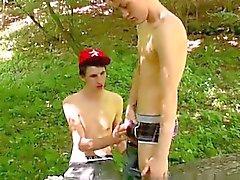 Homosexuell Clip Skylar Westens im Wald zum Stunden gewartet haben