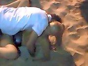 German Mom dogging on the Beach