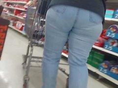 Sıkı kot pantolon şişman kıçını vpl