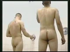 Naked морских пехотинцев в ванную комнату и Showe