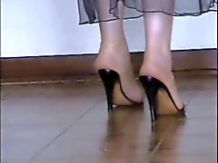 Minhas meias nuas e em longos dedos azuis ! !
