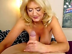 mom handjob and titjob