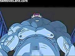 Hot rödhårig trevliga tuttar anime brud suger part2