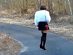 auf einem Spaziergang