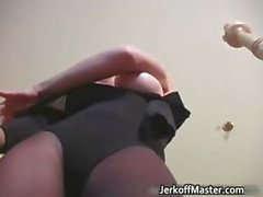 Kinky Jamie Lynn have fun with strap part5