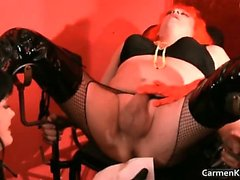 Dirty Carmen in perverse hard-core