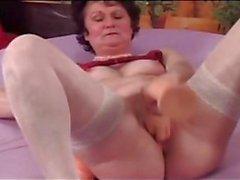 Beyaz çorap tombul nine genç erkek alay başlar ` Dick s