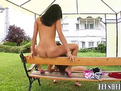 69 fisting fun for stunning raven haired babes