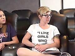 Lesbisk tonåringar hångla