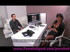 FemaleAgent. Virgin gets expert guidance from MILF