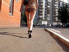 Na sequência burro do adolescente da sexy na Rússia Vídeo de Alta Definição