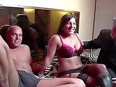 Real euro hooker drinks amateur cum