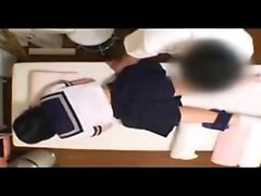Japanin Teen In Uniform Banged Sideways
