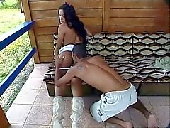 Karol cums twice while fucked by a big cock