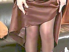 Mustat sukkahousut sekä äärimmäisen kuuman stocking
