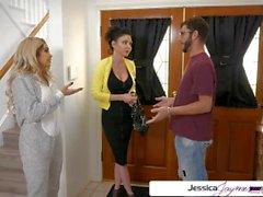 Jessica Jaymes & Aaliyah Hadid fucking a big dick, big booty & big boobs