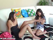 Tiffany Thompson and Layla Rose have a great masturbation.