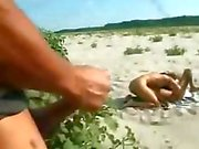 Teen italian lesbians at beach love to be watched by voyeurs