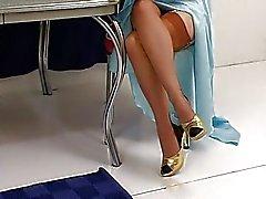Justine Joli klasik moda çırılçıplak soyar