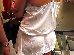 VPL вкусный # сорок-четыре (см через одежде ) и Upskirt с неба