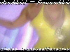 Lateks hizmetçi Luder : Scheiss Transvestitenschweine . Scheiss Fickdreck !