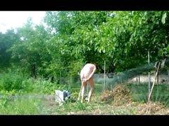 menina madura reta jardim fetiche brinquedo Anal com punho dildo 68