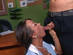 mature milf tries to keep her job!