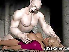 Skrämmande Zombie Fucks 3D Babe !