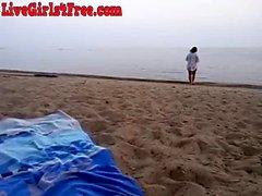 Webcam Kız Sahilde oynamak