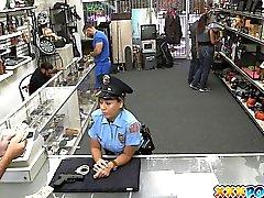 Cazzo di sexy di Police Officer In My del Monte di Pietà