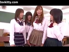 Japanese Schoolgirls In Black Pantyhose