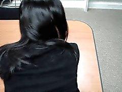 Nya koreanska sekreterare knullar på kontoret