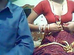 Jovem casal indiano na web cam