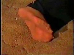 Vintage foot smelling