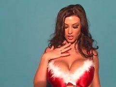 Alice Goodwin Christmas Bra Tease