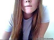 Chubby babe gets naked and masturbates on webcam