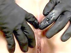 Bellissime azione culo fetish con il latex e di BDSM