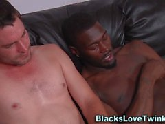 Black guy nailing hunk