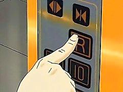 Соси Anime меда получение пальцами