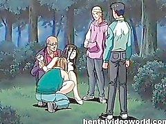 Pervs binds samt fan anime älskarinna i annat