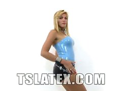 Sultry blonde tgirl Kananda Hickman is in solo action today